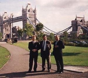 С профессорами В.З.Москаленко и Н.П.Трофименко на Европейском конгрессе хирургов, Лондон, 1993  год