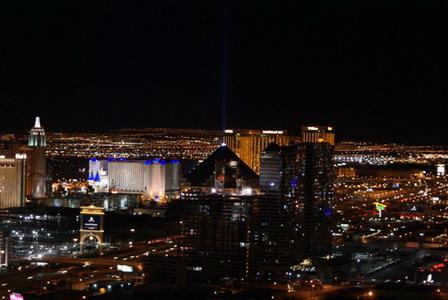 Ночной Лас-Вегас. Невада, 2007 год