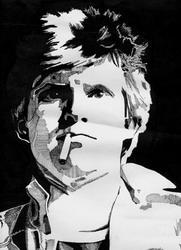 Автопортрет (тушь, перо), 1980 год